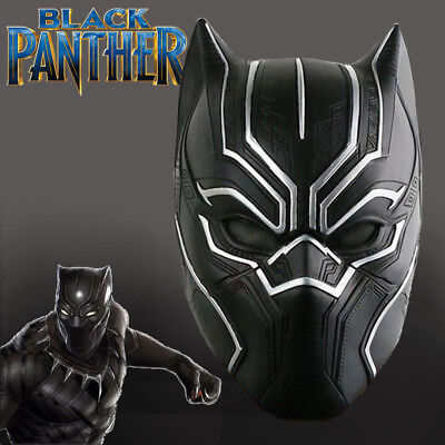 BLACK PANTHER LATEX MASK Halloween, Movie, Avengers, Costume, Party, Fancy Dress](Black Panther Party Halloween Costume)