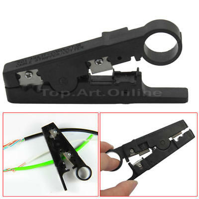Coax Coaxial Wire Cable Cutter Stripper Stripping Crimping Crimper Tool