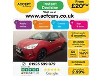 2012 RED CITROEN DS3 1.6 E-HDI AIRDREAM DSTYLE PLUS DIESEL CAR FINANCE FR £20 PW