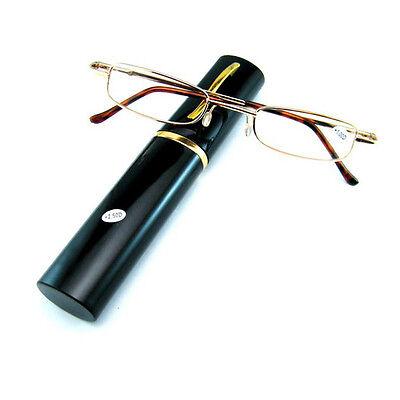 Metall Lesebrille Rohr Etui +1,5 +2,0 +2,5 +3,0 +3,5 Strength Lesebrillen Gut_