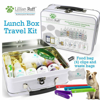 Lillian Ruff Dog Shampoo and Conditioner Travel Set Lunch Bo
