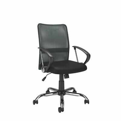 Atlin Designs Contoured Mesh Back Office Chair Dark Gray