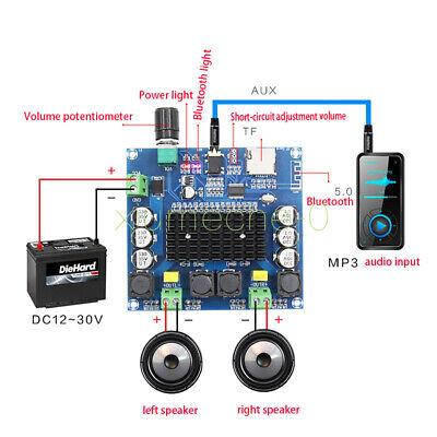 Tda7498 Bluetooth 5.0 Digital Amplifier Board 2x100w Stereo Amp Module New