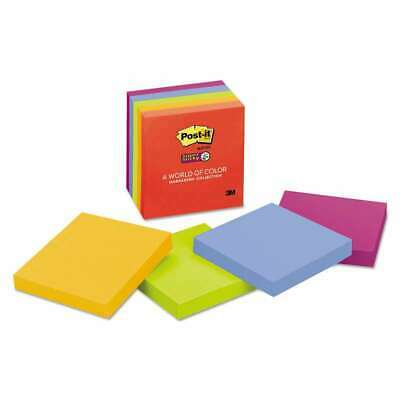 Post-it Notes Super Sticky Pads In Marrakesh Colors 3 X 3 90-s 021200531224