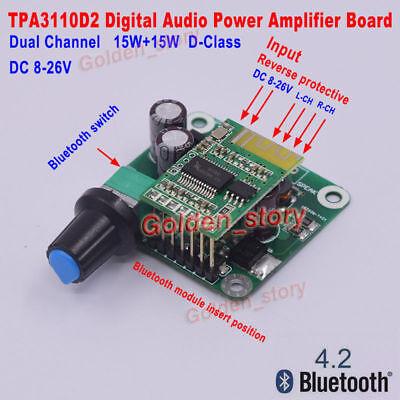 Dc 12V-24V Digital Audio Es Estéreo Amplificador de Potencia Amperios Placa Dos