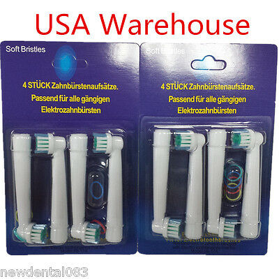 """USA"" 8Pcs Electric Tooth brush Heads Replacement for Braun"