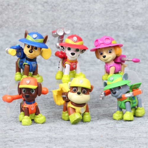 6 PCS Paw Patrol Jungle Rescue Movie Action Figure Cake Topp
