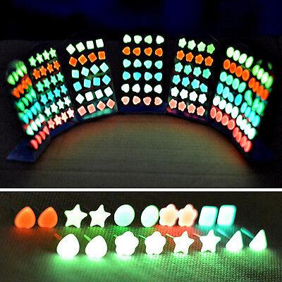 Wholesale 12Pair Fluorescence Luminous Glow In The Dark Ear Studs Party Earrings