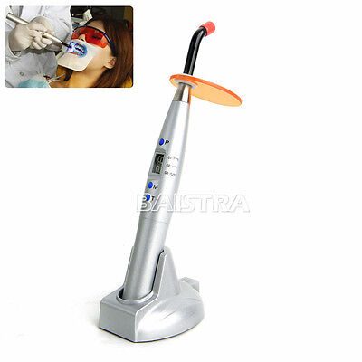 Hot Dental 5w Wireless Cordless Led Curing Light Cure Lamp 1200mw Silver Color