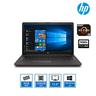 "Laptop Windows - HP 255 G7 15.6"" Best Laptop Deal AMD Ryzen 3-3200U, 8GB RAM 256GB SSD Windows 10"