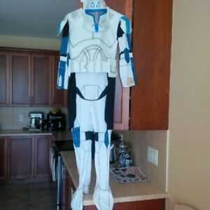Youth's Star Wars Captain Rex costume, size large