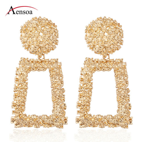 Jewellery - New Women Gold Silver Geometric Statement Drop Dangle Earrings Wedding Jewelry