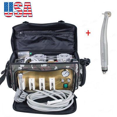 Usa Portable Dental Turbine Unit Air Compressor Suction System Triplex Syringe