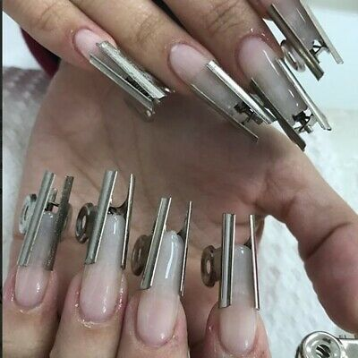 6pc Stainless Steel Acrylic Nail Pincher Clip Russian C Curve Nail Pinching Tool