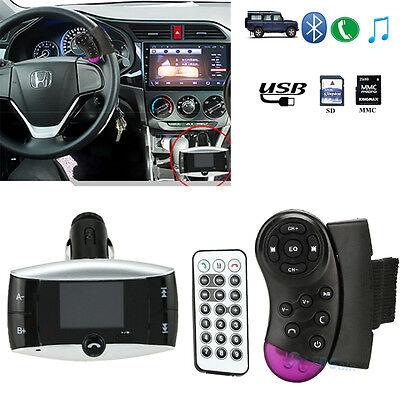 Bluetooth FM Transmitter USB SD Remote Control Handsfree for GPS CD MP3 Car Kit