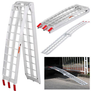 85-in Folding Arched Aluminum Loading Ramp (Pair)