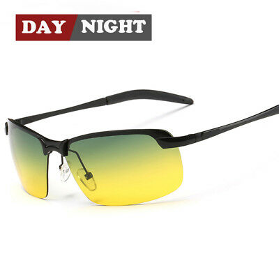 Day Night Vision Polarized Sunglasses Driving Sports Pilot Sun Glasses For Men