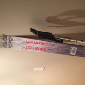 Salomon Cross Country Skiis and Poles with ski bag