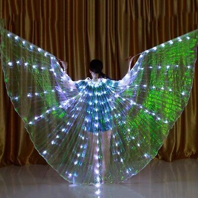 Dance LED Wings Light Up Halloween Costumes Stage Performance Clothing for Adult - Light Up Halloween Costumes For Adults
