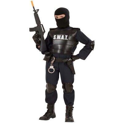 POLIZIST Undercover Gr. 140 Kostüm Jungen SWAT Officer  Police CIA S.W.A.T. ()