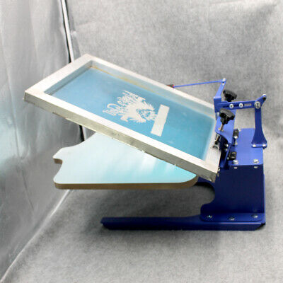 1 Color Screen Printing Printer Shirt Press Machine Adjustable Slant Palelt