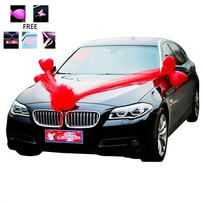 Cars Wedding Decoration Kit Balloon Silk Flower Ball Ribbon Bows Wrap Chic Decor](Wedding Car Decoration)