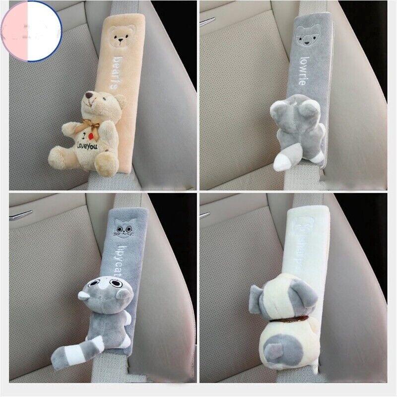 1Pcs Cartoon Cute Car Shoulder Safety Belt Cover Lengthened Seat Belt Protector/