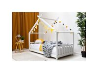 Sale!!! Logan Single (3') House Bed - White