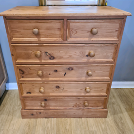 Solid Pine Chest of Drawers with Dovetail Joints