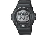 MENS CASIO G-SHOCK ALARM CHRONOGRAPH WATCH DW-6900BW-1ER