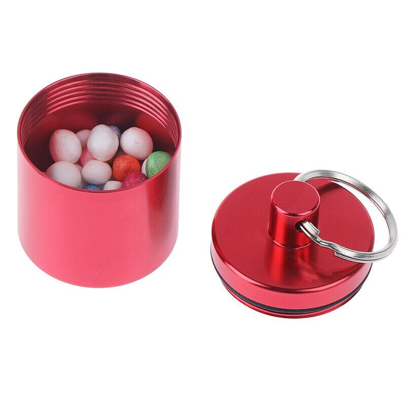 Alloy Storage Emergency Pill Box Waterproof Travel Pill Bott