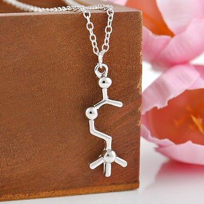 Acetylcholine Necklace, Scientist Gift Jewelry, Brain Chemistry Molecule - Brain Gifts