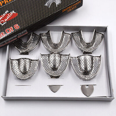 Upperlower Stainless Steel Dental Autoclavable Metal Impression Trays Sml