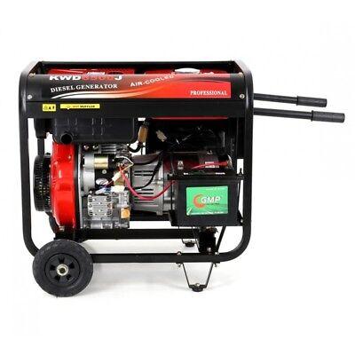 Generatore di corrente diesel silenziato monofase Kraft&Dele 6,5 KW, usato usato  Borgo Grappa