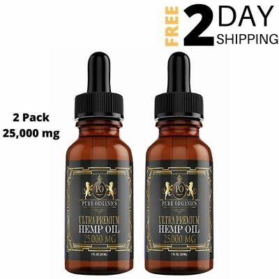 Organic Hemp Oil For Stress and Anxiety 2 Pack Joint Pain Relief Better