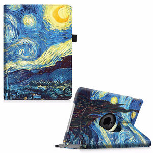Ipad Air 2 flip case , starry night theme, new