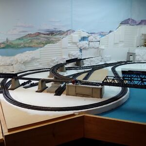 MODEL TRAINS - HO SCALE RAILWAY LAY-OUT