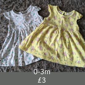 0-3m dresses