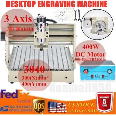 400w Spindle Cnc3040 Router Engraver Engraving Milling Drilling Machine Carving