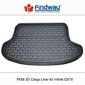 Findway F658 Style 3D Cargo Liner for 2014-2017 Infiniti QX70