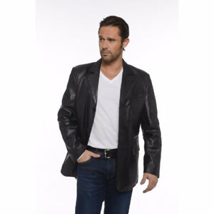 Italian Leather Jacket (Medium) / Veste en Cuir Italienne (M)