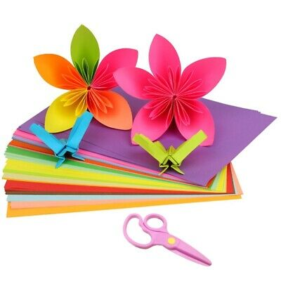 Colored Construction Paper (Construction Paper Double Sided Colored Copy Paper 100 Sheets + 1pc)