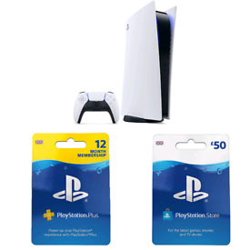 PS5 DIGITAL EDITION + 12Month PS+ and £50 PSN CREDIT!