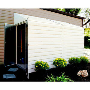 Arrow 4' x 10' Galvanized Steel Storage Shed