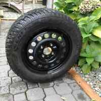 Set of mounted snow tires