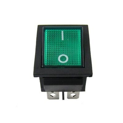 Neon Green Light 4 Pin Dpst Onoff Snap In Rocker Switch 15a125v Ac 193 Pieces