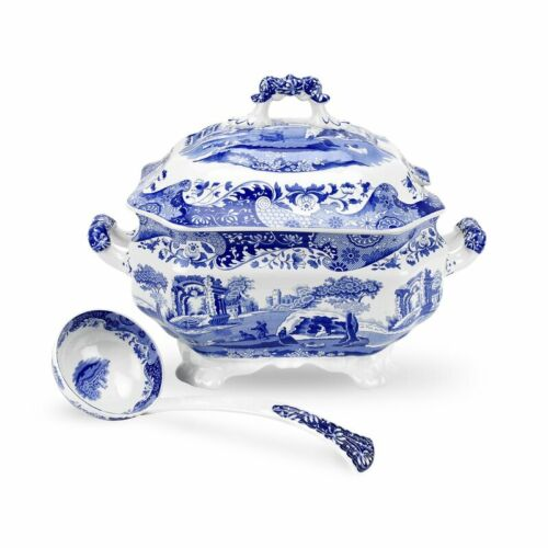 Spode Blue Italian  stunning soup tureen with Ladle