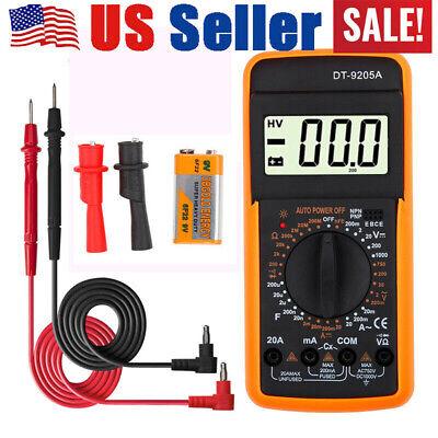 Us Digital Multimeter Ohmmeter Ac Dc Voltmeter Ammeter Volt Tester Meter Dt9205a