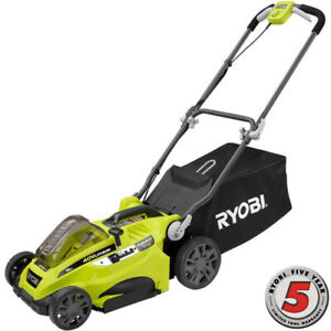 16 in. 40-Volt Lithium-Ion Cordless Battery  Push Lawn mower
