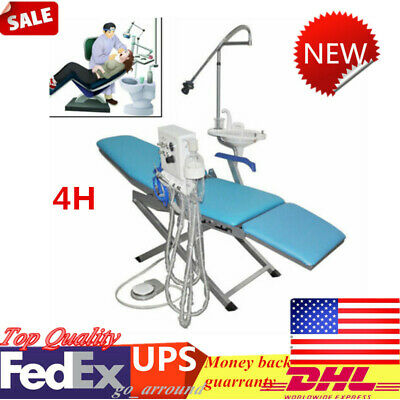 4 H Dental Weak Suction Handpiece Folding Chair Led Turbine Unit Portable Top